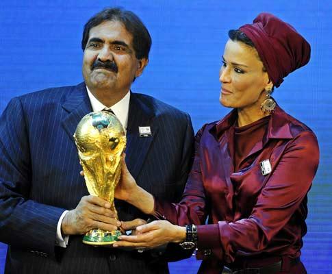 Mundial 2018: xeques do Qatar festejam