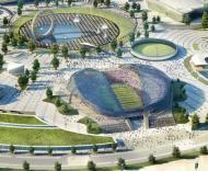 Mundial-2018: projecto do novo estádio em Sochi (JO Inverno 2014)