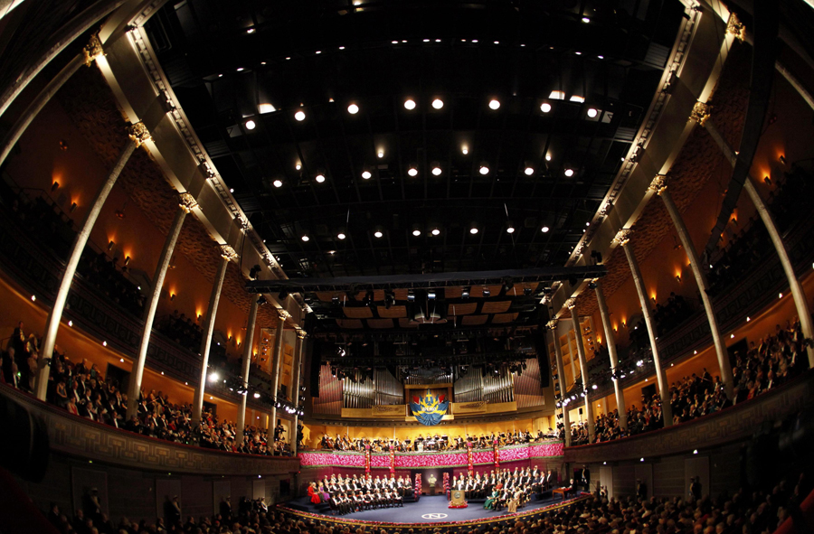 Cerimónia de entrega dos Nobel em Estocolmo (Reuters)