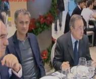 Mourinho ao lado de Florentino Perez ao almoço