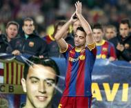 Xavi recordista de jogos no Barcelona