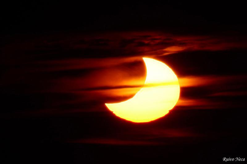 Eclipse (foto enviada pelo leitor José Neca)