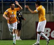 Pitbull festejou golo com Ricardo Silva