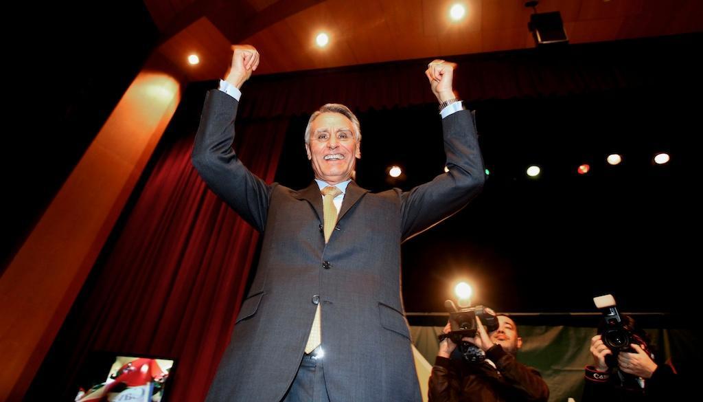 Presidenciais 2011: Cavaco Silva em Vila Real (Tiago Petinga/LUSA)