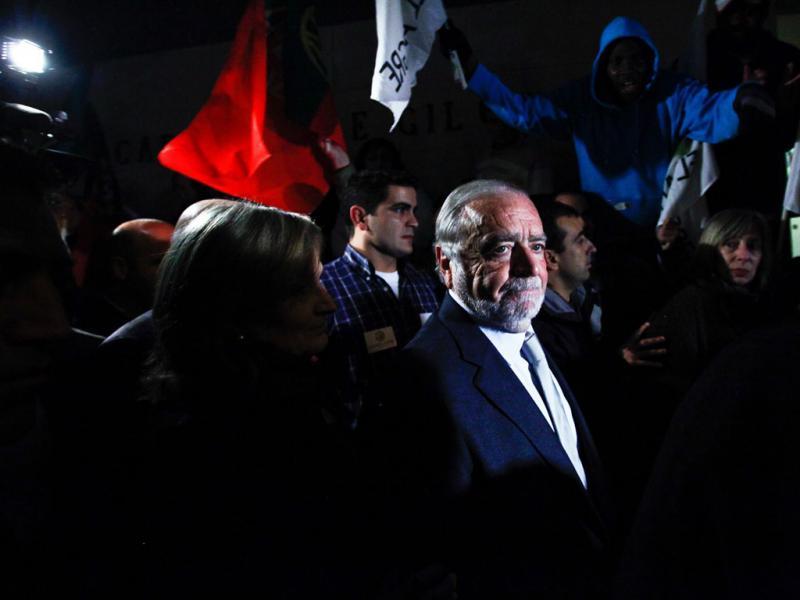 Manuel Alegre em campanha (JOSE SENA GOULAO / LUSA)