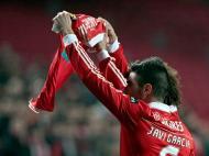 Javí Garcia e David Luiz fizeram homenagem a Ruben Amorim