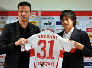 Fredi Bobic e Shinji Okazaki (EPA/Bernd Weissbrod)