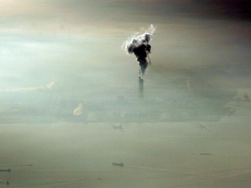 Poluição vista do céu