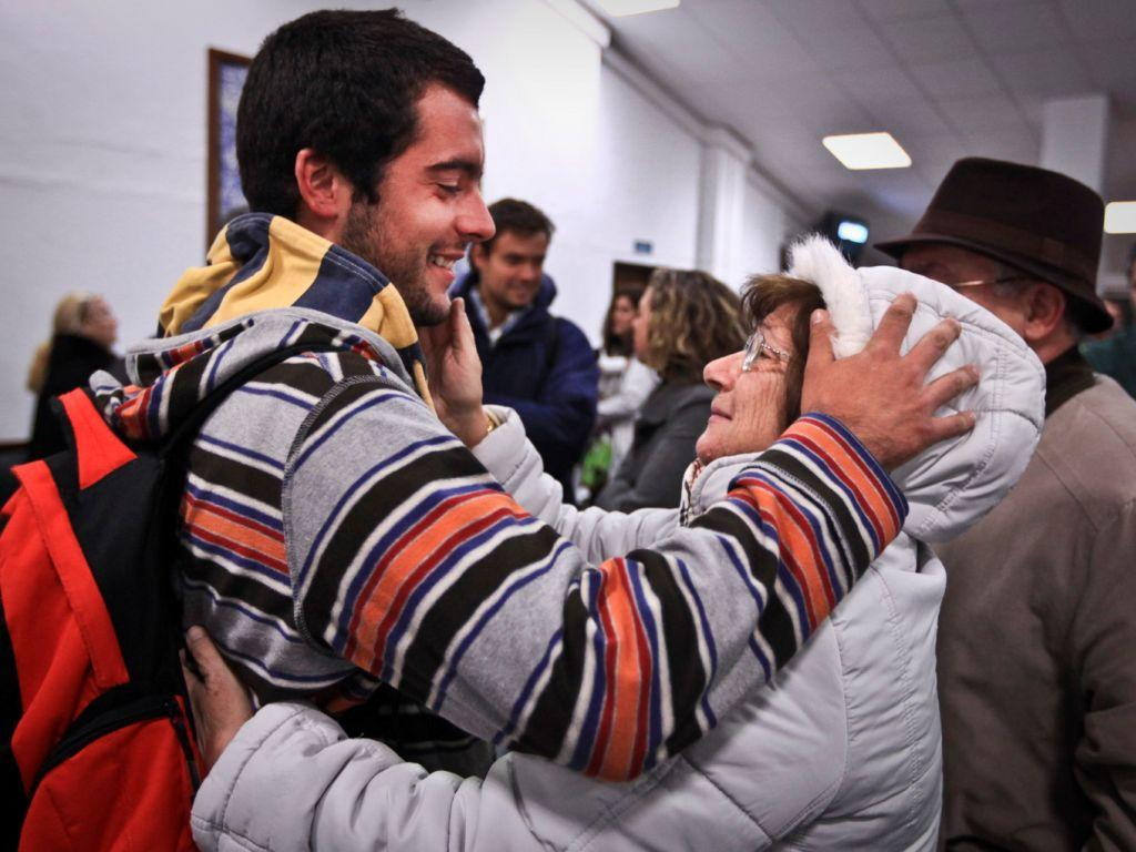 Portugueses regressam do Egipto (MÁRIO CRUZ/LUSA)