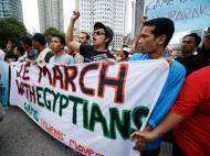 Manifestação de apoio ao povo egípcio na Malásia