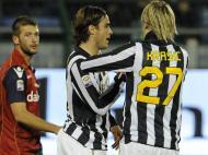 Matri bisou frente aos ex-colegas do Cagliari (EPA)