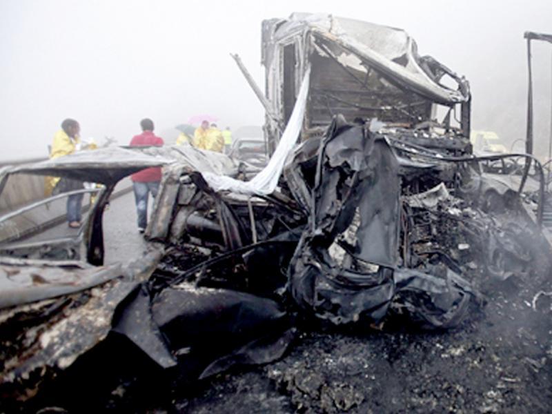 Acidente na A25 em Agosto de  2010 (Lusa)