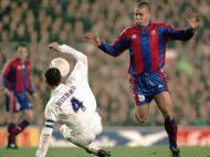 Ronaldo (Barcelona) contra Hierro (Real Madrid)