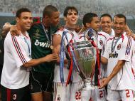 Ronaldo campeão da Europa com o Milan
