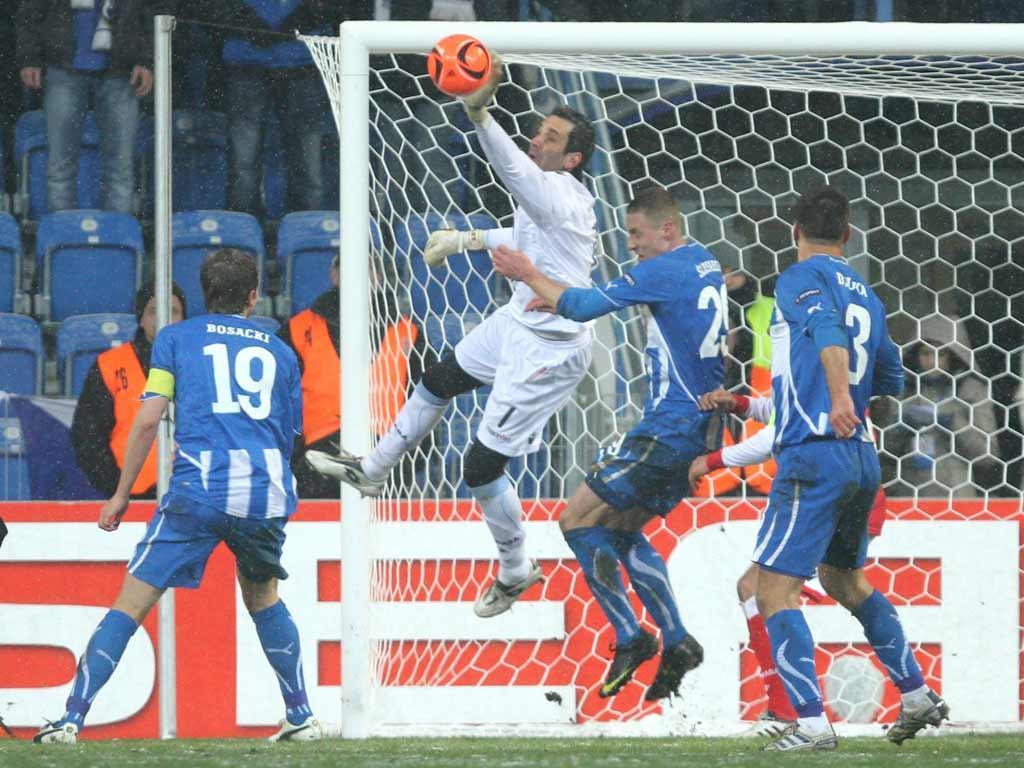 Lech Poznan vs Sp. Braga (EPA/Adam Ciereszko)