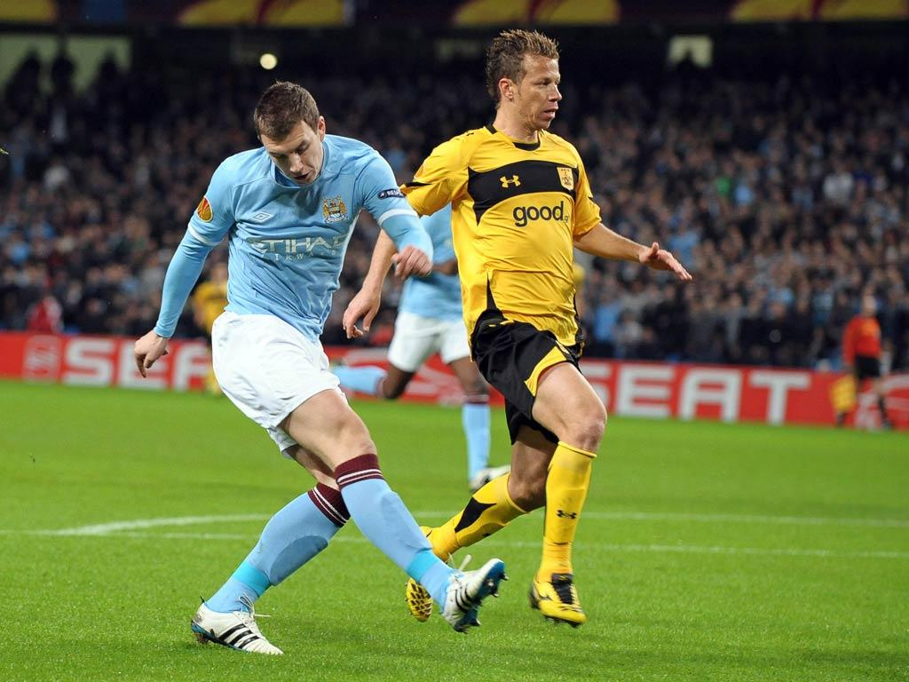 Manchester City vs Aris (EPA/Robin Parker)