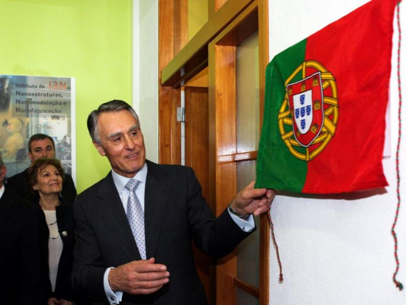 Cavaco Silva na cerimónia de inauguração do Laboratório de Nanofabricação da Universidade Nova de Lisboa [MIGUEL A. LOPES / LUSA]