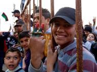 Manifestação anti-Khadafi em Benghazi [EPA/WEISS ANDERSEN FLEMMING]