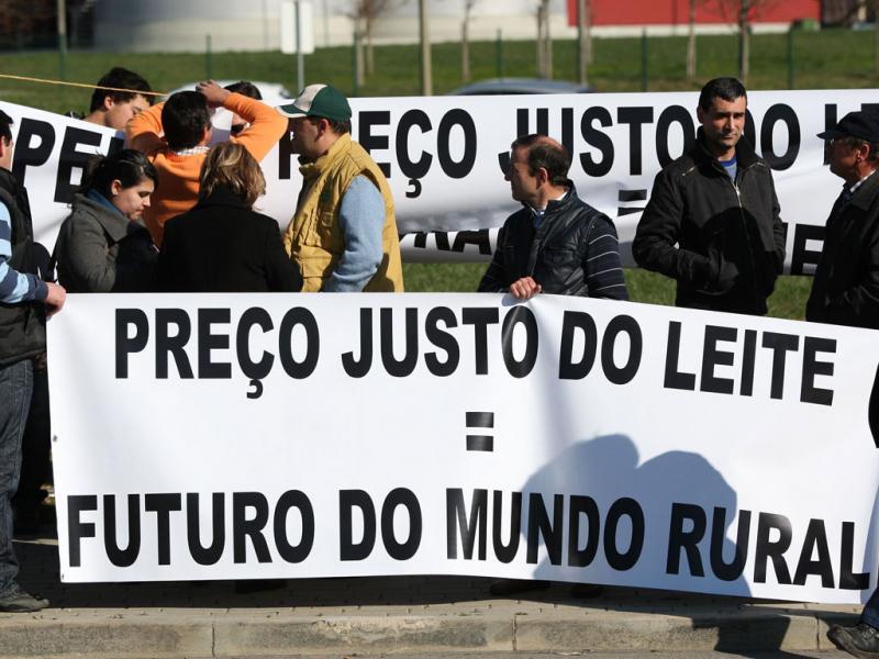 Protesto dos produtores de Leite