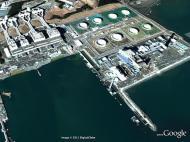 Fukushima, planta da estação nuclear depois do tsunami