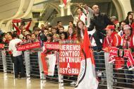 Braga chega de Liverpool em festa