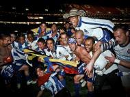 Festejos do FC Porto no Estádio da Luz (MARIO CRUZ/LUSA)