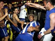 Festejos do FC Porto no Estádio da Luz (MIGUEL A. LOPES/LUSA)