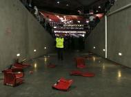 Assentos do estádio da Luz destruídos (MIGUEL A. LOPES/LUSA)