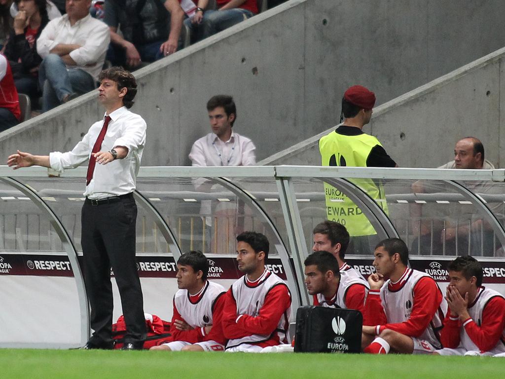 Sp. Braga nas meias-finais da Liga Europa (Foto: Catarina Morais)
