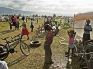 Estádio ocupado no Haiti (foto: LAthlétique dHaïti)