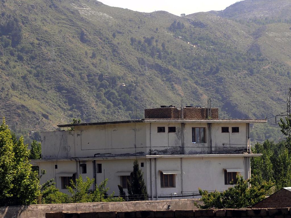 A casa onde Bin Laden estava refugiado no Paquistão