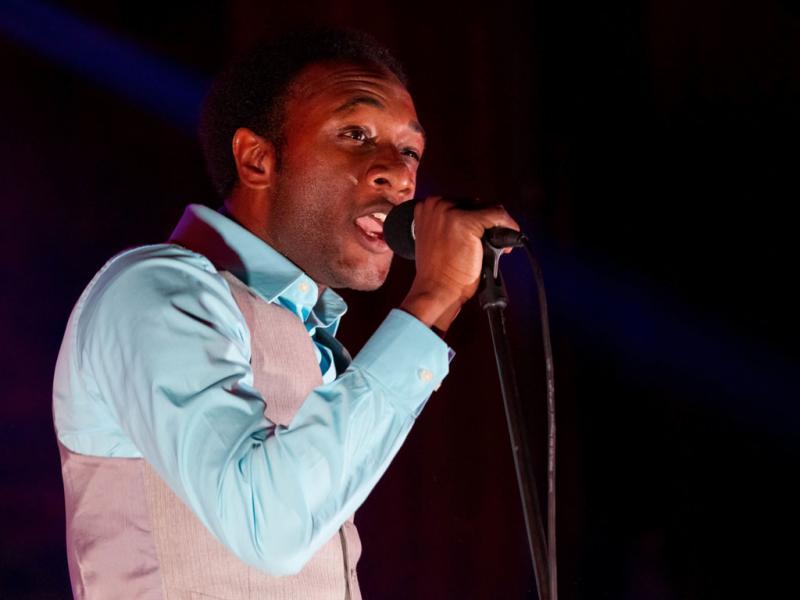 Aloe Blacc ao vivo na Aula Magna (foto: Rui M. Leal)