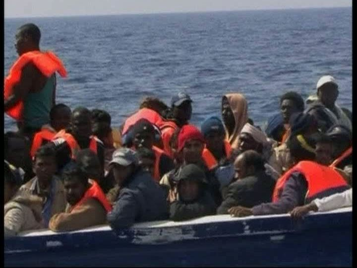 Imigrantes da Líbia