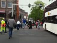 Titulo holandês cai do autocarro