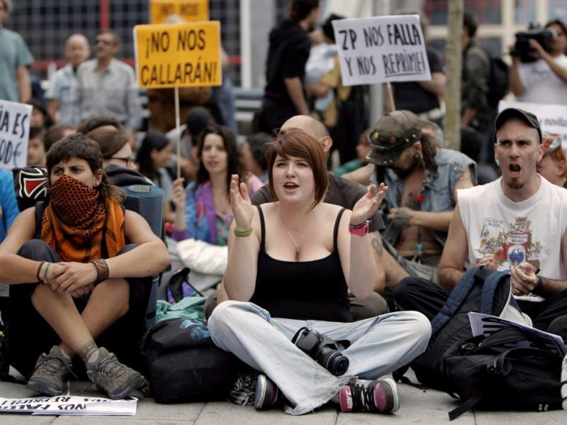Protesto na Puerta del Sol (EPA)