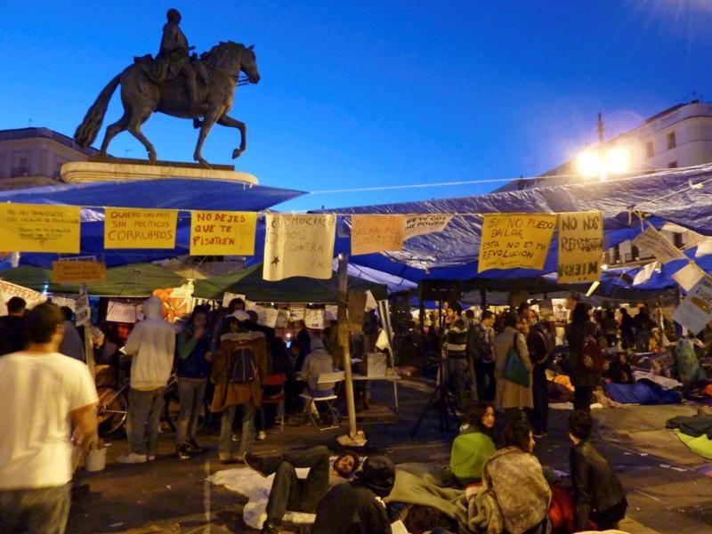 Protesto na Puerta de Sol [EPA]