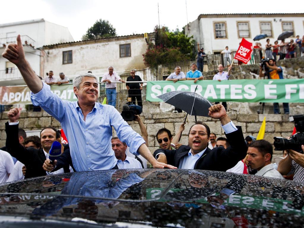Sócrates em campanha (Lusa/José Sena Goulão)