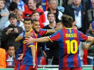 Pedro, Dani Alves e Messi (EPA/Gerry Penny)