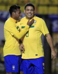 Ronaldo e Robinho Fotos: Lusa