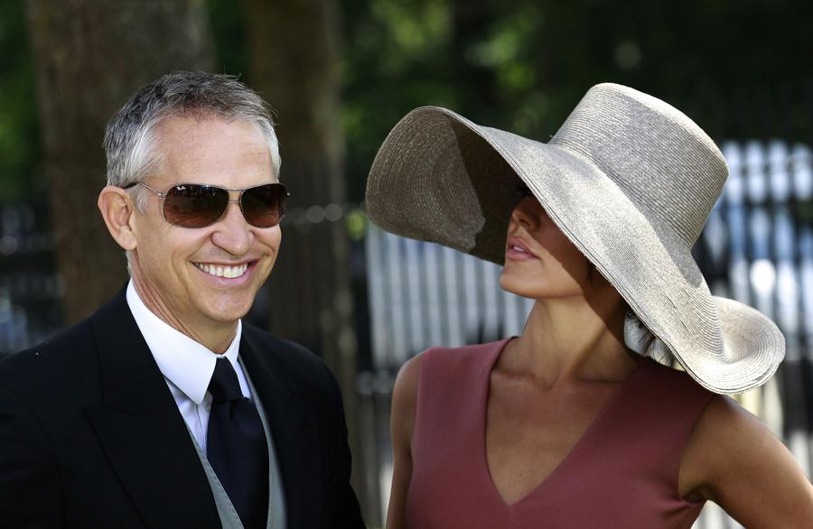 Gary Lineker e a mulher, Danielle Fotos: Reuters