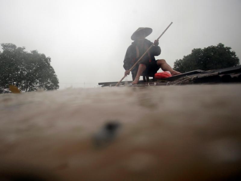 Inundações na China
