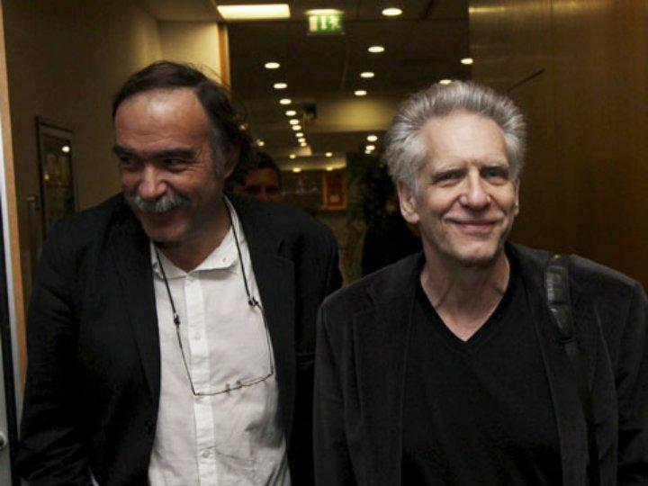 Paulo Branco e David Cronenberg no Estoril Film Festival 2009