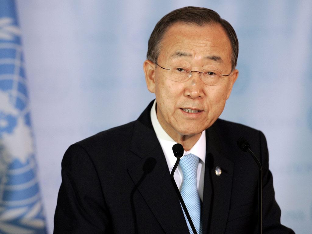 Ban Ki-moon (Justin Lane/EPA)