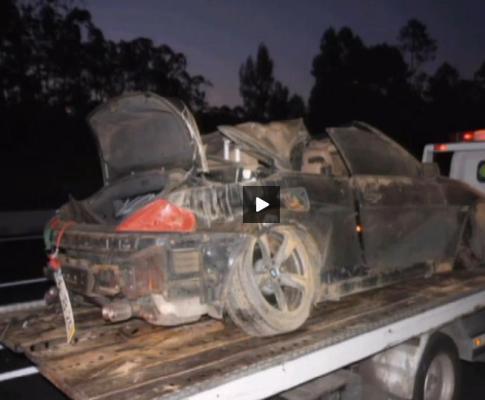 Angélico: acidente causado por rebentamento de pneu