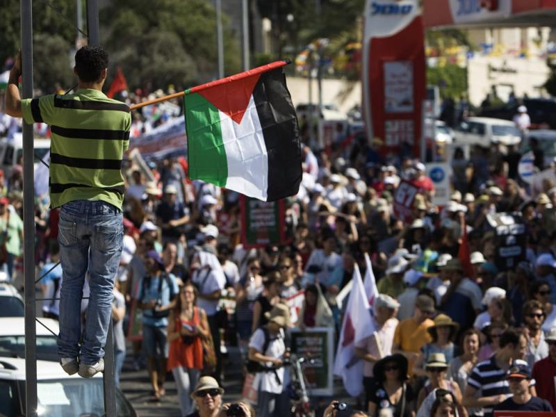 Marcha pela Palestina em Jerusalém (Reuters)