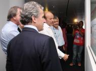 Luís Filipe Vieira recebeu comitiva do Peñarol na Luz
