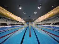 Londres 2012: vista geral do centro aquático