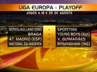 Sorteio do play-off da Liga Europa