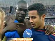 Balotelli e Thiago Alcântara