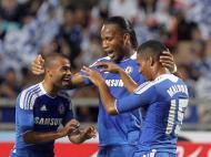 Florent Malouda, Didier Drogba e Ashley Cole ( (EPA/Rungroj Yongrit)